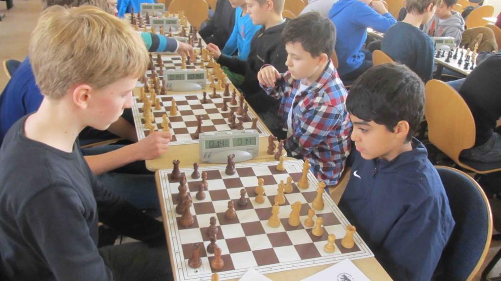 Rahim und Daniel im ersten Wettkampf