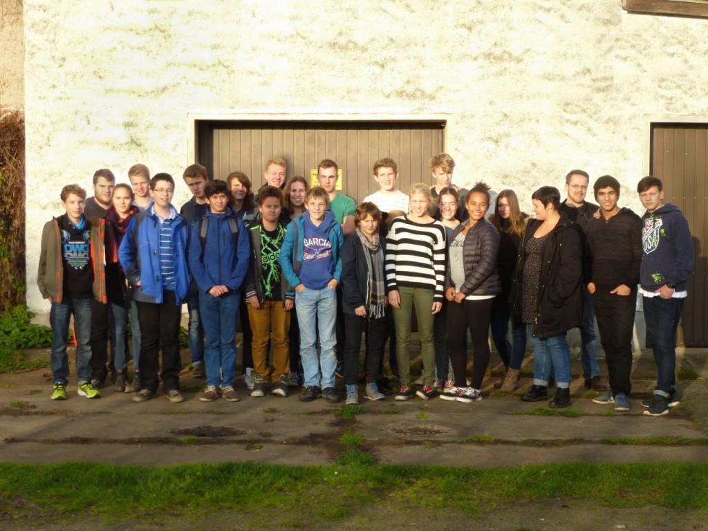 Unsere Gesamtschülervertretung auf der GSV-Fahrt nach Lübben im Spreewald im November 2014