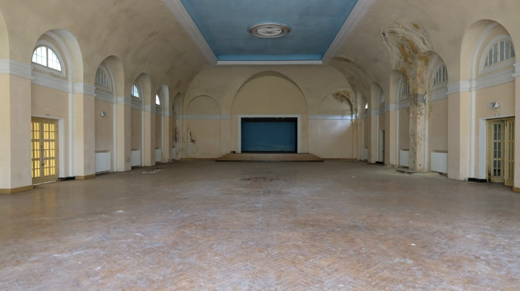 Der Fechtsaal diente viele Jahrzehnte der körperlichen Ertüchtigung. Im Vorfeld der Olympischen Spiele 1936 trainierten hier die deutschen Olympiateilnehmer.