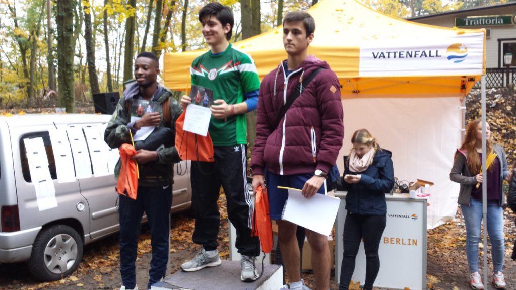 Ein wenig versonnen nach seinem hervorragenden 2. Platz: Osama Abdulsayed (rechts)
