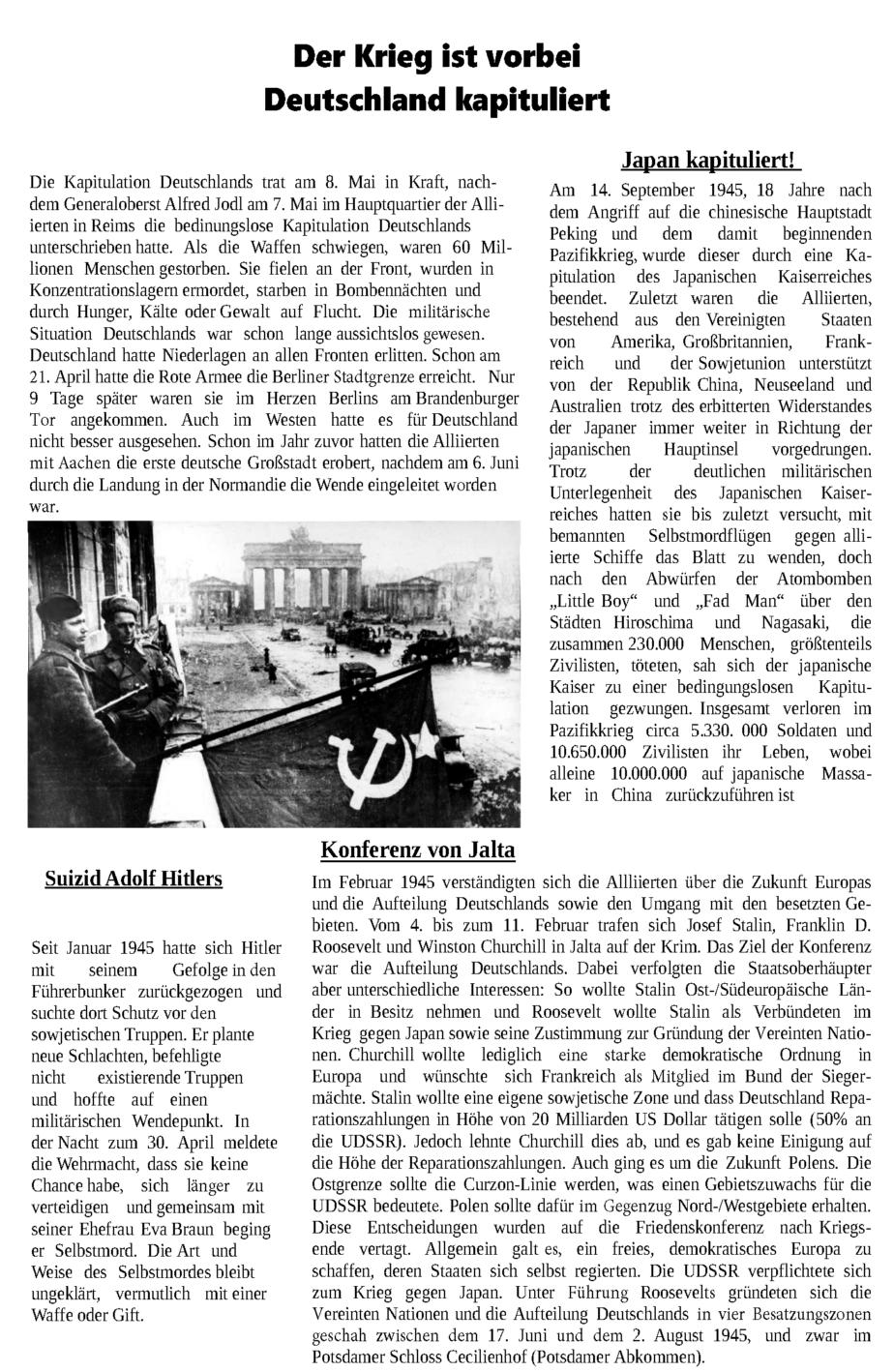 1945 Jahreschronik - Florian - Julius - Niclas_Seite_1