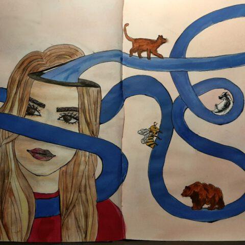 Das Innere nach Außen kehren - Selbstporträt 3