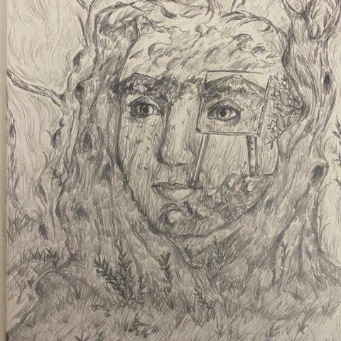 Das Innere nach Außen kehren - Selbstporträt 5