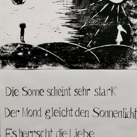 Haiku! Druckgrafische Illustration der japanischen Dichtung 1