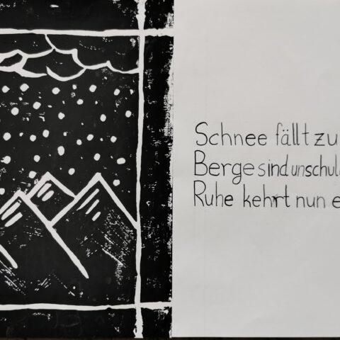 Haiku! Druckgrafische Illustration der japanischen Dichtung 2