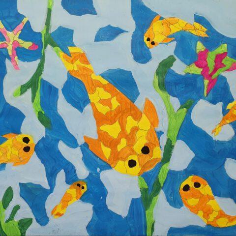 Warme Fische, kühle Meere! Farbkontraste 1